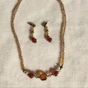 Jewelry - Delicate beaded necklace and earrings set